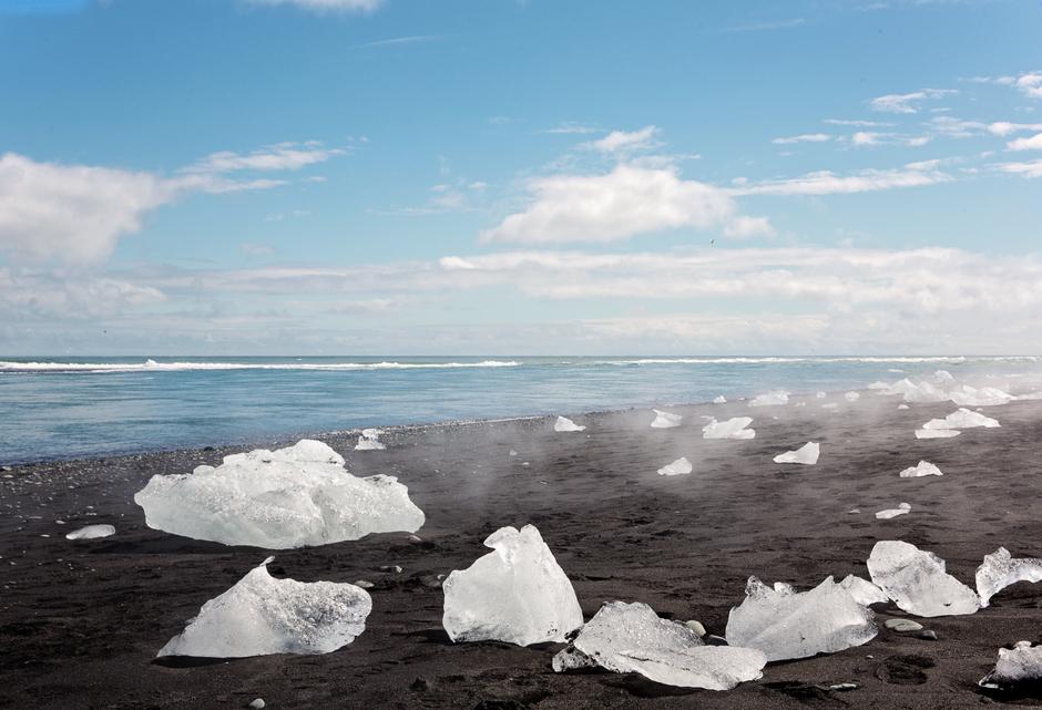 Jökulsárlón Beach, Islandia